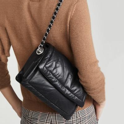 Tasarımcı moda küçük kadınlar çanta pu deri zincir çanta PU omuzdan askili çanta Flap kadınlar için Crossbody çanta postacı çantası