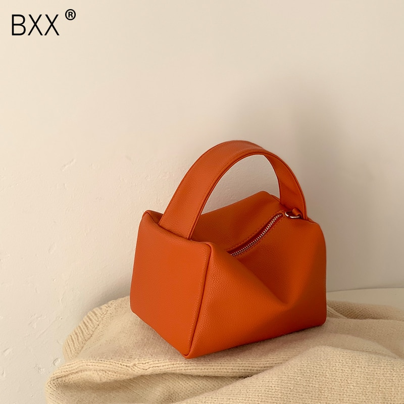 [BXX] PU Leather Small Bags For Women 2021 Autumn Winter Fashion Handbags Vintage Ladies Travel Shoulder Crossbody Bag HO236