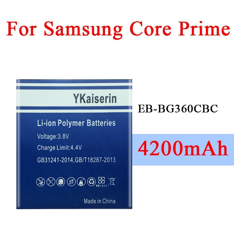 4250 mah EB-BG360CBC bateria para samsung galaxy core prime g360 g361f g361h g360h/f lte SM-G3606 g3606 g3608 g3609 bateria do telefone