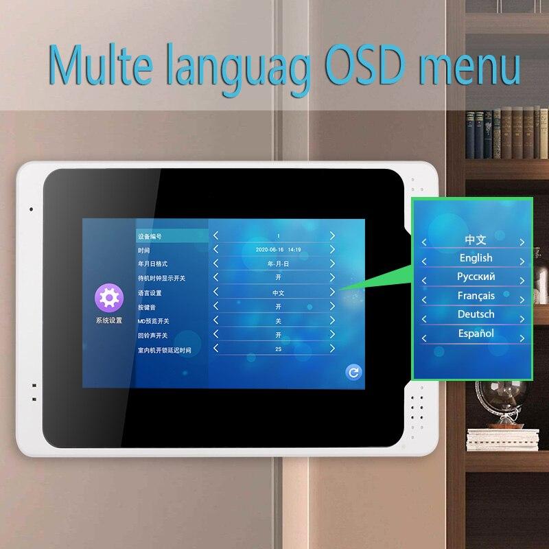 Tuya APP Control Video Intercom 7 Inch LCD Wifi Wireless Video Door Phone Doorbell RFID Speakerphone Intercom+Door Opening Lock enlarge