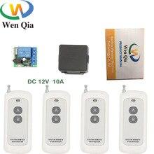 433MHz Universal Lange range Remote Control DC12V 10Amp 1CH rf Relay Receiver and Transmitter for gate door opener  DIY remotes