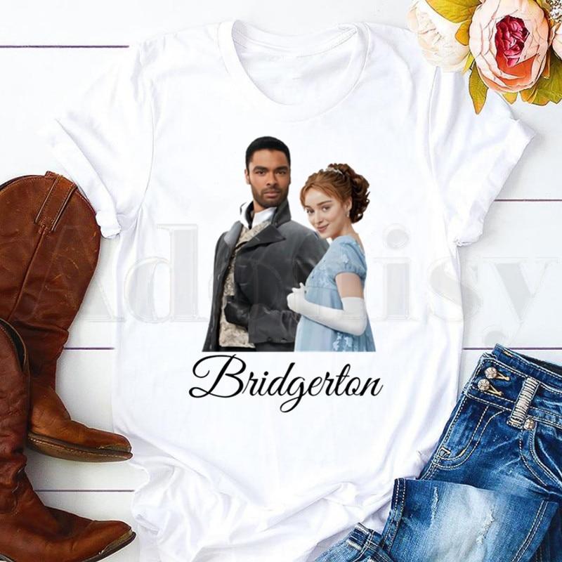 Bridgerton Lady Whistledown Watercolor Artwork Short Sleeve Female Tops Tees Harajuku Vogue VintageT Shirts Women's T-shirt