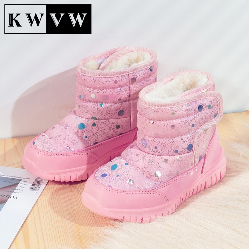 Pure Cotton Kid Shoes Winter Plus Velvet Warm Girl Casual Booties Outdoor Activity Supplies Comfortable Soft Non-slip Snow Boots