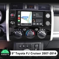 android 10 0 car radio touch screen 9 inch fast boot gps navigation with carplay radio stereo for toyota fj cruiser 2007 2014