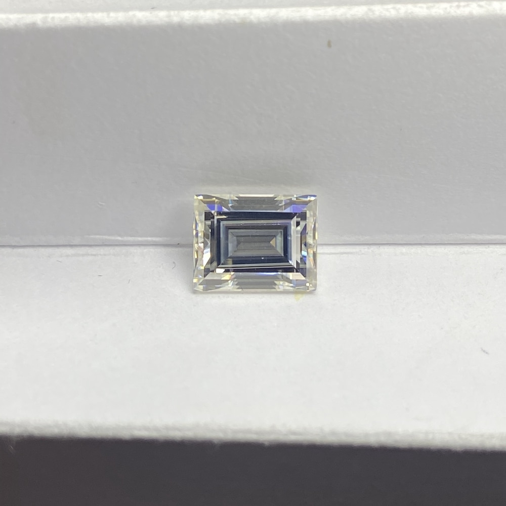 Meisidian D VVS1 ممتاز قطع 6x8 مللي متر 2 قيراط الرغيف الفرنسي مويسانيت الماس بيرس للقيراط
