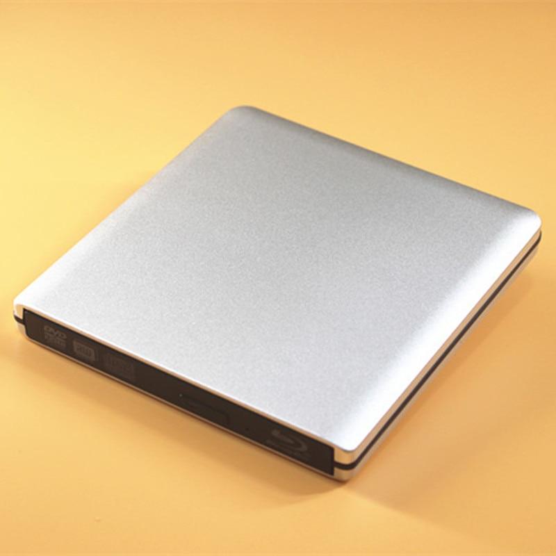 محرك أقراص Blu ray خارجي USB 3.0 مع غلاف معدني ، متوافق مع كمبيوتر سطح المكتب والكمبيوتر المحمول ، 25g ، 50g ، 100g ، قرص Blu ray ، القراءة والتشغيل