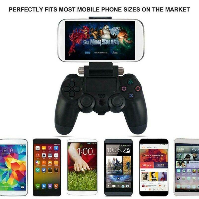 Abrazadera de soporte de Clip de teléfono soporte de montaje duradero plegable para PS4 DualShock controlador inalámbrico