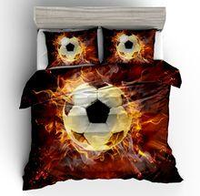 Fanaijia 3d Football Duvet Cover Set Single Size Kids Bedding Sets Full Size Bed Set boys Bed Comforter