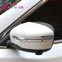 ABS Chrome voiture rétroviseur Protection bandes rétroviseur garniture autocollants pour Nissan x-trail T32 Qashqai J11 Murano pièces