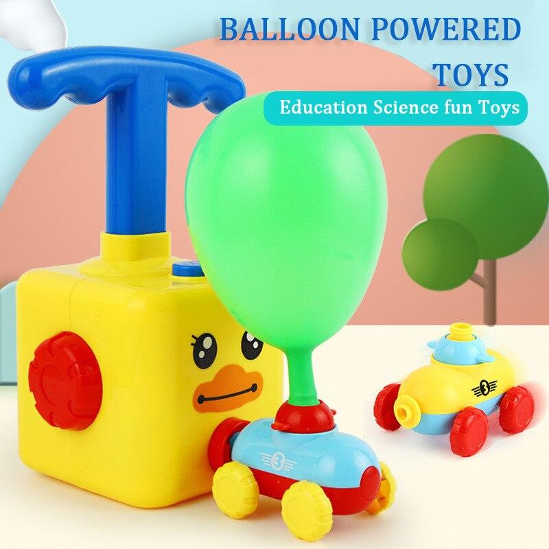 Inertia, coche de globo volador con lanzador de cohetes, globo de dibujos animados, coche, rompecabezas, juguete, juguetes de experimentos de ciencia para regalo de Navidad