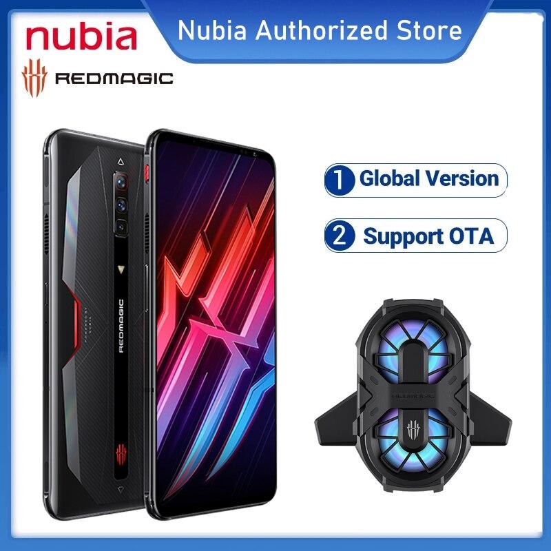 Глобальная версия Nubia красный Магия 6 игровой смартфон 8 ГБ 128 Snapdragon 888 мобильный телефон 6,8 дюйм 165 Гц активно-матричные осид 66W быстрая зарядка