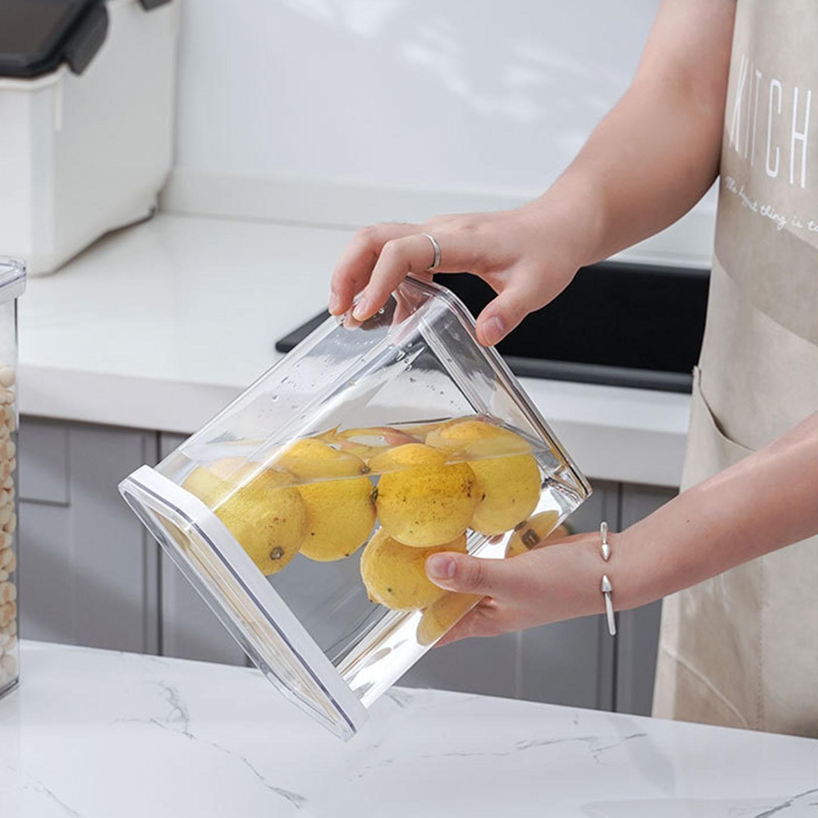 صندوق تخزين صندوق تخزين مقاوم للرطوبة البلاستيك الغذاء مختومة علب التخزين الآمن شفافة عالية السعة حاويات طعام المطبخ
