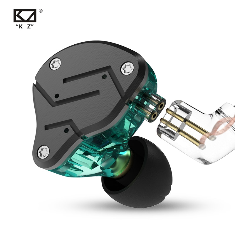 KZ ZSN металлические наушники гибридная технология 1BA + 1DD HIFI бас наушники в ухо монитор наушники Спорт шумоподавление Гарнитура