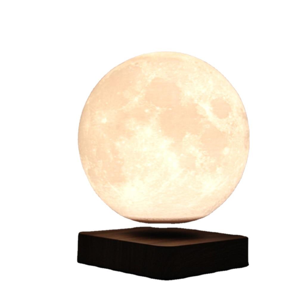 2021 تصميم جديد 18 سنتيمتر الإبداعية ثلاثية الأبعاد المغناطيسي الإرتفاع Led القمر العائمة مصباح هدية تزيين المنزل مصباح قمري ليلة ضوء الدورية