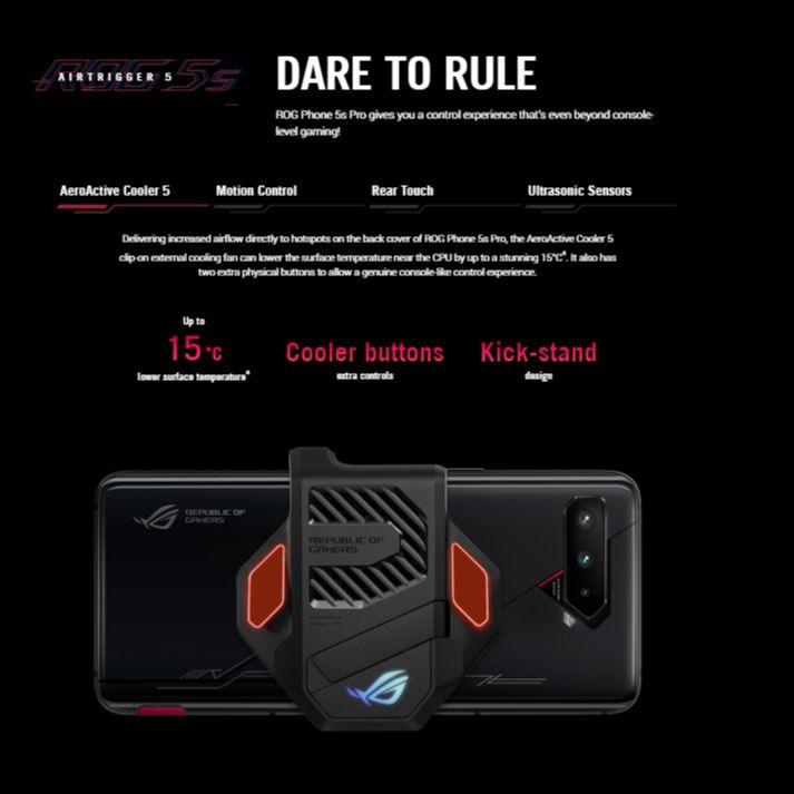 Original ASUS ROG Phone 5s Global Version Snapdragon888 16/18GB RAM 256/512GB ROM 6000mAh 65W NFC OTA Update  ROG5S Gaming Phone enlarge