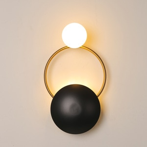 Nordic Led Wall Lamp Black Gold for Bathroom Corridor Staircase Home Decoration Interior Lighting Fixture Accessories Industrial