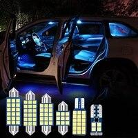 11pcs festoon car led bulbs kit for kia forte 2018 2019 interior dome reading light vanity mirror license plate lamp accessories