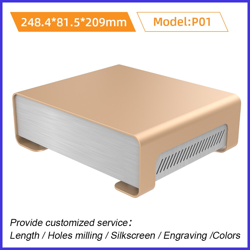 caixa de metal da chapa do pc caixa de bateria eletronica aluminio habitacao personalizado