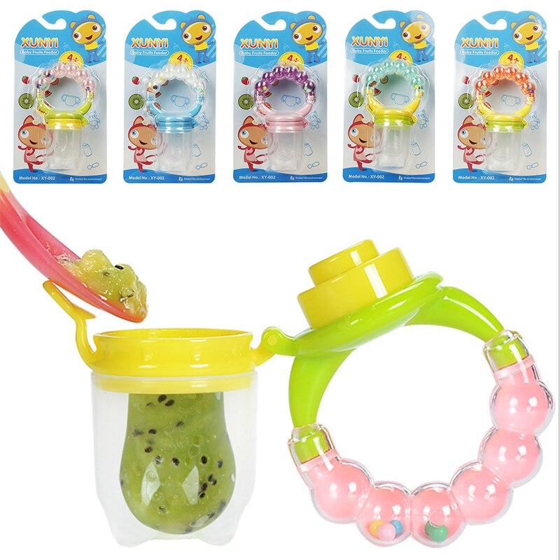 Chupetes de alimentación para bebés, 1 Uds., comida fresca, alimentador de frutas para niños, alimentación con tetinas, suministros seguros para bebés, tetina, chupete, biberones