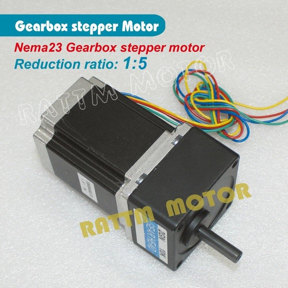 Motorreductor paso a paso 51 Ratio Nema23 Motor paso a paso 850oz.in 3.0A para fresadora CNC fresadora de grabado