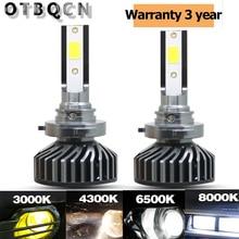 Mini Size Car Headlight H7 H4 LED 4300K 6500K 8000K 3000K H1 H11 H8 H9 9005 9006 H3 LED Bulb Lamp HB3 10000LM 12V Auto Fog Light