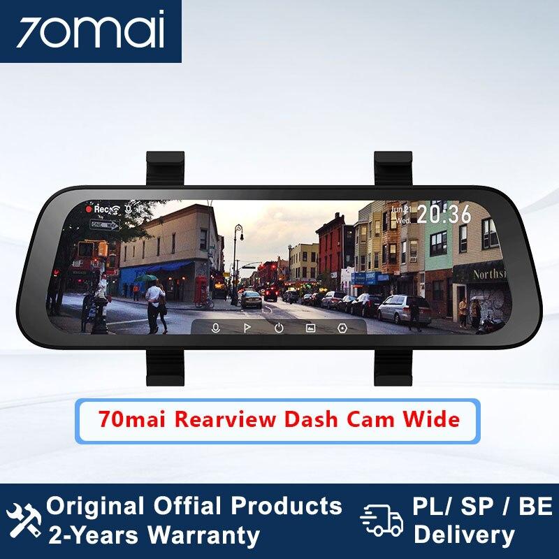 Cámara de salpicadero con espejo retrovisor 70mai versión Global, cámara Dual europea, cámara frontal y Rever de 9,35 pulgadas de ancho, Dvr para coche de doble canal con espejo trasero