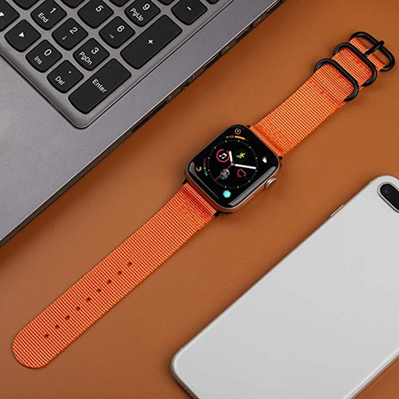 Hot Sell Nylon Watchband for apple Watch Band Series 5/4/3/2/1 Sport Bracelet accessories 42 mm 38 mm 40mm 44mm Strap For iwatch