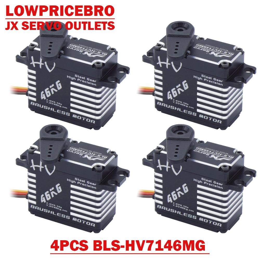 4 teile/satz JX BLS-HV7146MG 47KG Stahl Gang Voller CNC Aluminium Bürstenlosen Standard Servo für RC modell Auto Roboter Lkw hubschrauber
