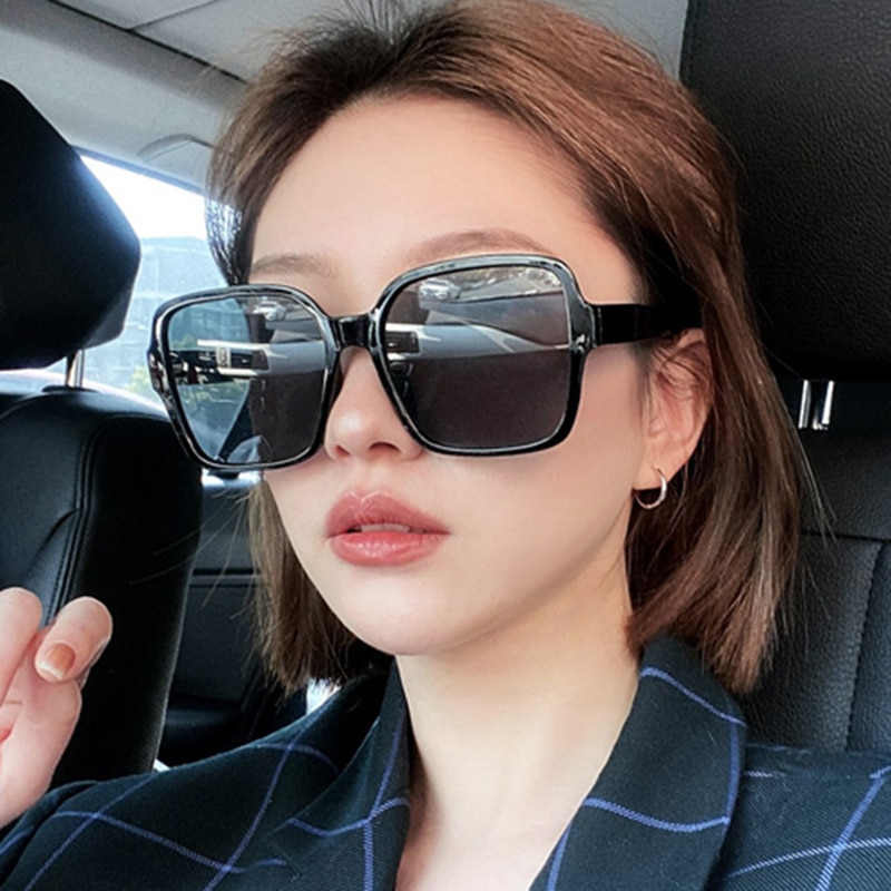 Square Elegant cateye Sunglasses Women Luxury Brand Designer Oversized Italy Sun Glasses Female Ladi