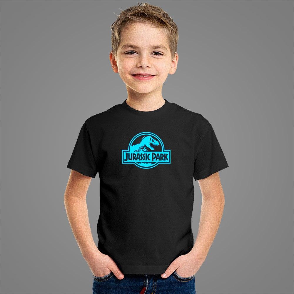 Camiseta luminosa para niño de dinosaurio Parque jurásico, camiseta de manga corta de algodón para verano del 2020 para hombre y mujer, camisetas de bebé para chico y chica