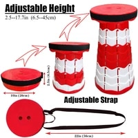 retractable collapsible telescopic camping seat small lightweight sturdy adjustable stools for travelkitchengardenfishing
