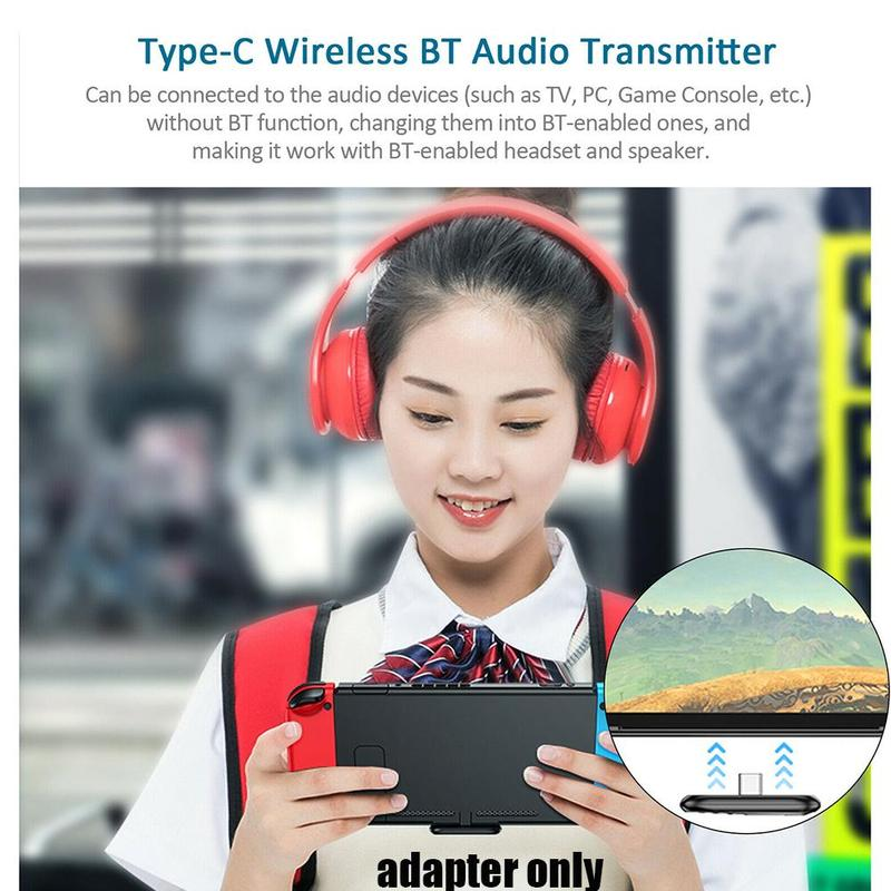 Bluetooth audio adapter, Bluetooth 5.0 transmitter, port power Type-c drive-free wireless supply N1K4 enlarge