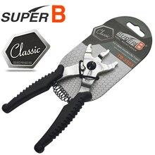 SUPER B TB-3323 Bike Chain Magische Knop Klem Remover Sluit Gereedschap Fietsketting Reparatie Tools 2 in 1 master Link Tang-trident