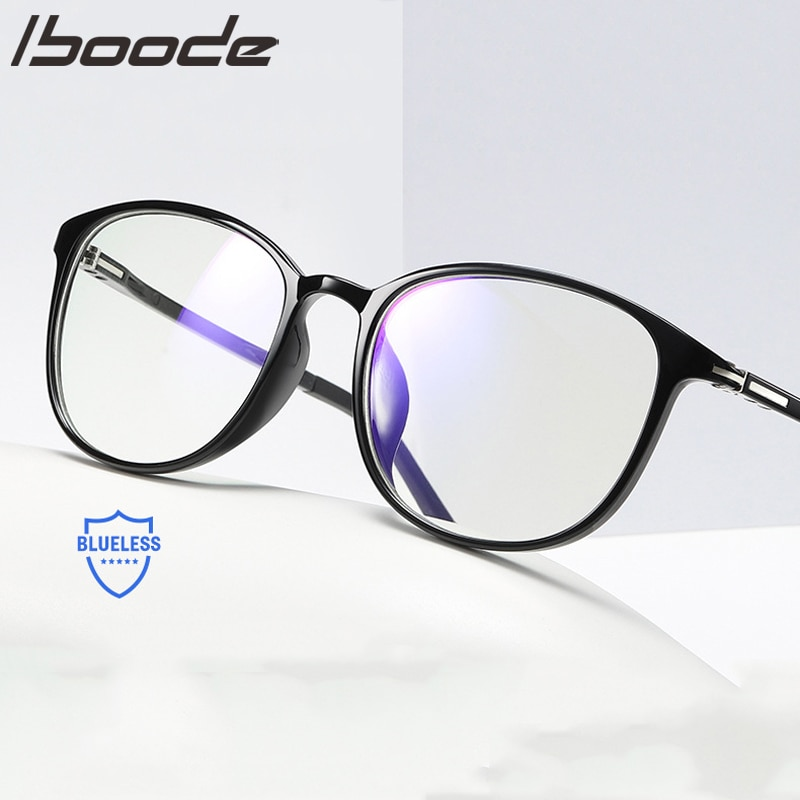 IBOODE gafas de moda Anti-radiación marcos hombres mujeres Anti-azul gafas teléfono móvil protección de la computadora ojos gafas ópticas