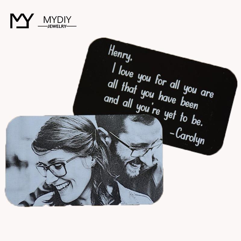 Custom Wallet Card, Husband gift, Boyfriend Card insert, Personalized Metal Anniversary gifts for Husband, Wa