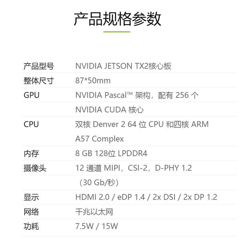 8GB TX2 NVIDIA for Jetson Board Module Core for Board Developer Kit AI Solution for Autonomous Machines enlarge