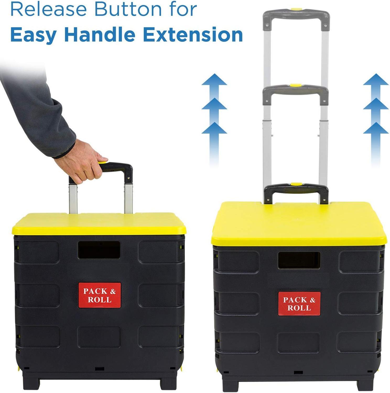 E-FOUR plegable carro de la compra de ropa carrito para comestibles Dolly carro mercado equipaje coche capacidad 35kg de equipaje fácil Coche