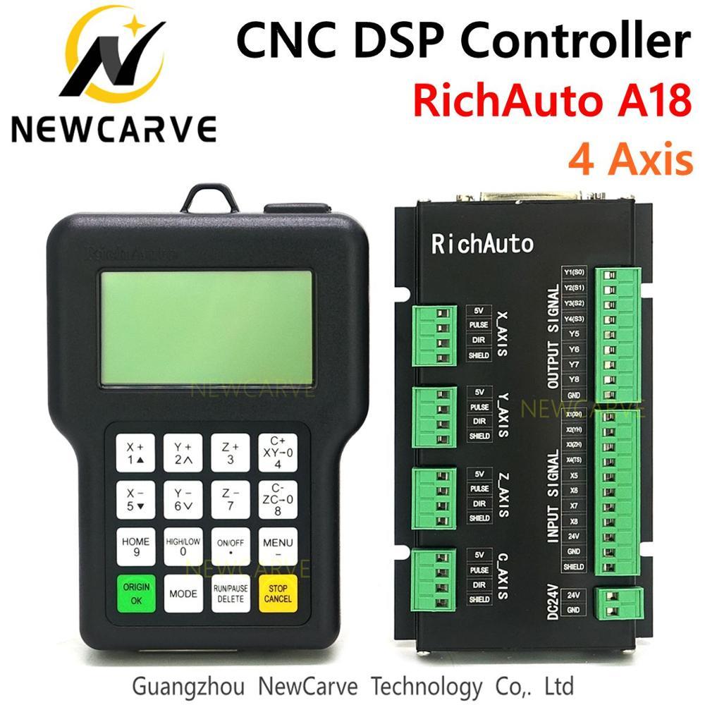RichAuto-وحدة تحكم CNC ذات 4 محاور ، دليل التحكم في الحركة ، وصلة USB A18s A18e لجهاز التوجيه CNC ، لـ DSP A18