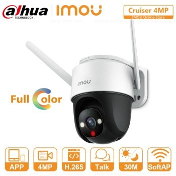 Dahua Imou Cruiser 4MP PTZ Outdoor IP Camera Full-Color Night Vision Built-in Wifi AI Human Detection Weatherproof Two-Way Talk