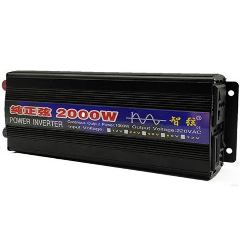 conversor de tensao dc 12v 24v para ac 220v onda senoidal pura inversor 1000w 2000w