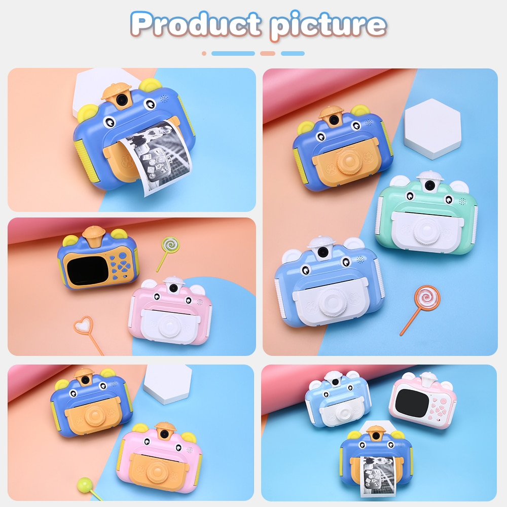 Kids Camera Instant Print Camera for Children 1080P HD Video Photo Camera Toys with 32GB Card enlarge