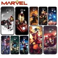 iron man marvel hero for samsung galaxy j2 j3 j4 core j5 j6 j7 j8 prime duo plus 2018 2017 2016 soft black phone cover