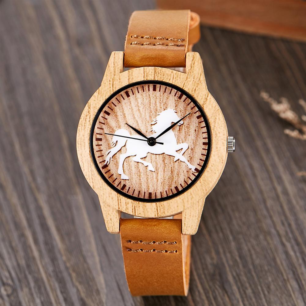 Relógio de pulso de couro relógio de pulso de couro masculino animal relógio de pulso reloj
