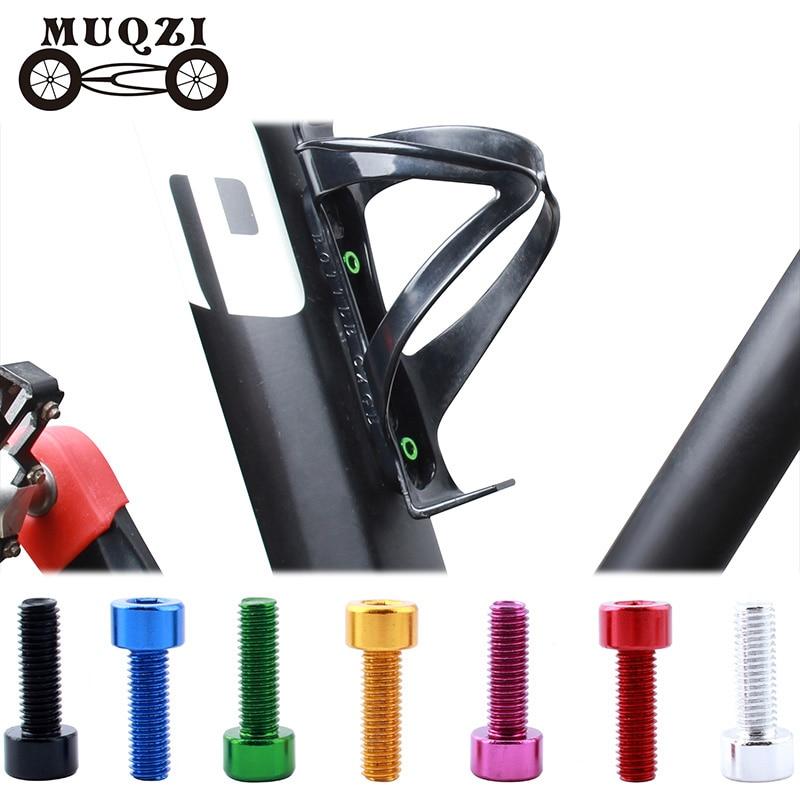 MUQZI 2pcs Bicycle Bottle Cage Screws m5 Ultra-Light Aluminum Holder Bolts MTB Road bike Accessories