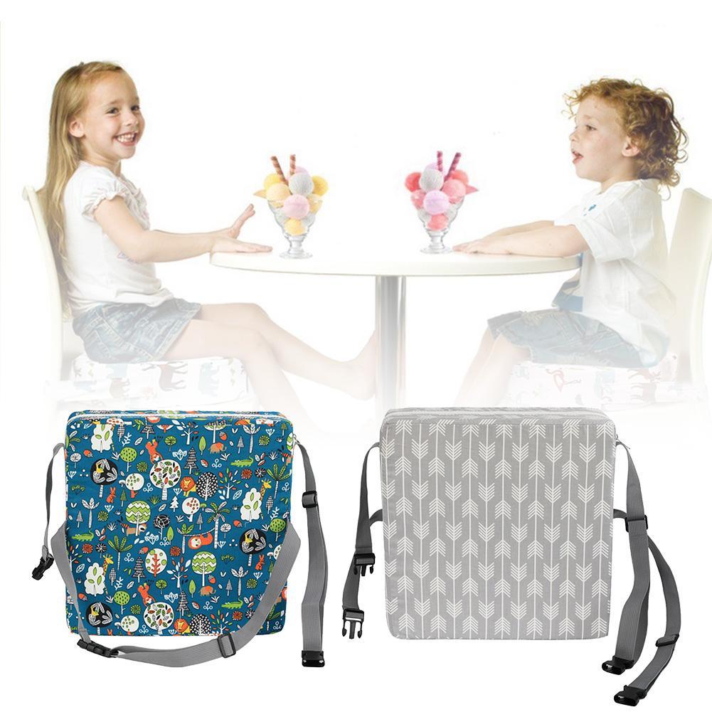 Cojín del asiento portátil para niños, silla alta, cojín de asiento elevador, silla de comedor, cojín de asiento ajustable para estudiantes