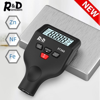 R&D ET360 Mini Micron Level  Paint Thickness Meter High Precision Car Paint Coating Thickness Gauge Fe/NFe Fe+ Zn Russian Manual