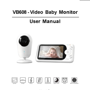 Smart VB608 Video Baby Monitor 2.4G Wireless 4.3 Inch LCD 2 Way Audio Talk Night Vision Surveillance Security Camera Babysitter