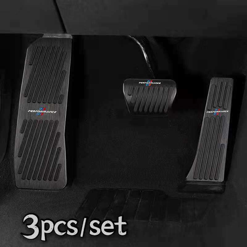 Car Interior Punch-free Aluminium Alloy 3pcs/Set Brake Pedals for BMW X3X5X7 E70 E83 E84 E90 F30 F15 F10 E60 Car Accessories