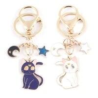 keychain childhood anime jewelry keyrings cartoon pendant key buckle car bags keyholder trinket