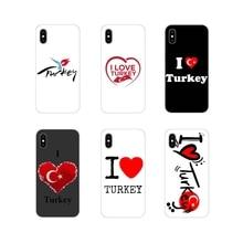 Accessories Phone Cases Covers For Samsung Galaxy A3 A5 A7 A9 A8 Star A6 Plus 2018 2015 2016 2017 I Love Turkey Heart